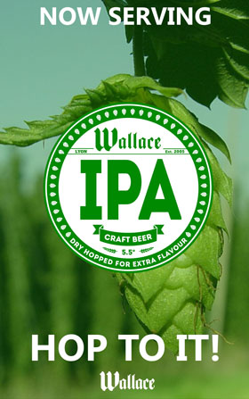 Wallace India Pale Ale craft beer in Lyon